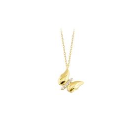 eJOYA 14 Ayar Altın Kelebek Kolye 84109