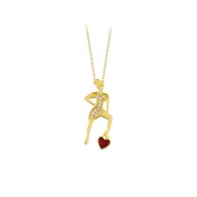 eJOYA 14 Ayar Altın Kalp Kadın Kolye 84125