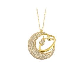 eJOYA 14 Ayar Altın Vav Taşlı Kolye 84193