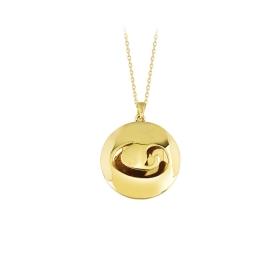 eJOYA 14 Ayar Altın Vav Taşlı Kolye 84202