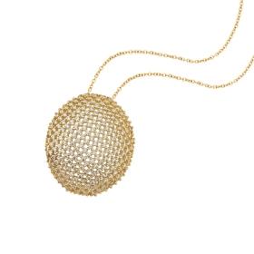 eJOYA 14 Ayar Altın Mozaik Çember Taşlı Kolye 84234