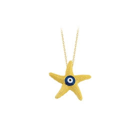eJOYA 14 Ayar Altın Yıldız Taşlı Kolye 84281