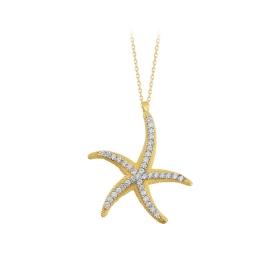 eJOYA 14 Ayar Altın Yıldız Taşlı Kolye 84284