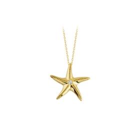 eJOYA 14 Ayar Altın Yıldız Taşlı Kolye 84285
