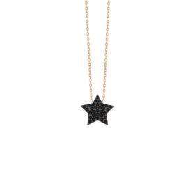 eJOYA 14 Ayar Altın Yıldız Taşlı Kolye 84289