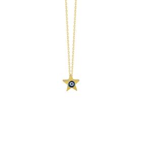 eJOYA 14 Ayar Altın Yıldız Taşlı Kolye 84291