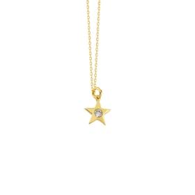 eJOYA 14 Ayar Altın Yıldız Taşlı Kolye 84292
