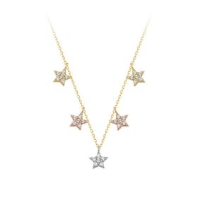 eJOYA 14 Ayar Altın Yıldız Taşlı Kolye 84293