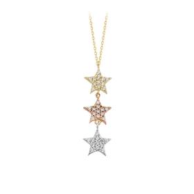 eJOYA 14 Ayar Altın Yıldız Taşlı Kolye 84294