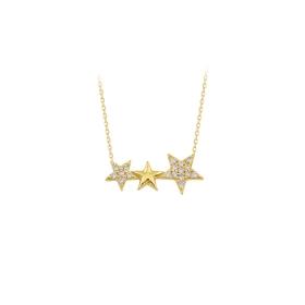 eJOYA 14 Ayar Altın Yıldız Taşlı Kolye 84296