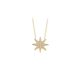 eJOYA 14 Ayar Altın Yıldız Taşlı Kolye 84298