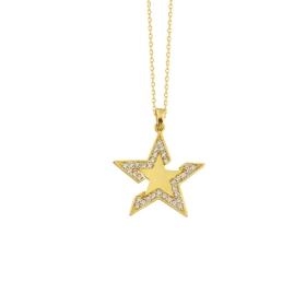 eJOYA 14 Ayar Altın Yıldız Taşlı Kolye 84300