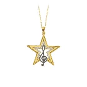 eJOYA 14 Ayar Altın Yıldız Taşlı Kolye 84301