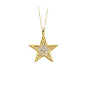 eJOYA 14 Ayar Altın Yıldız Taşlı Kolye 84302