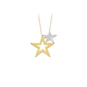 eJOYA 14 Ayar Altın Yıldız Taşlı Kolye 84303