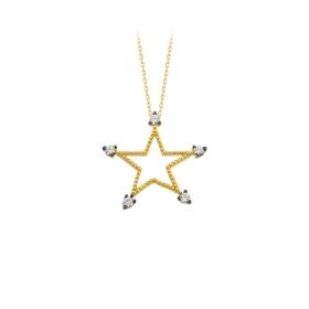 eJOYA 14 Ayar Altın Yıldız Taşlı Kolye 84304