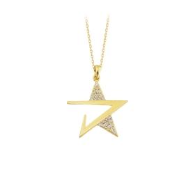 eJOYA 14 Ayar Altın Yıldız Taşlı Kolye 84305