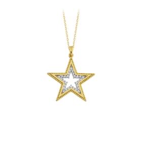 eJOYA 14 Ayar Altın Yıldız Taşlı Kolye 84306