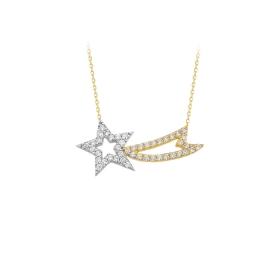 eJOYA 14 Ayar Altın Yıldız Taşlı Kolye 84309