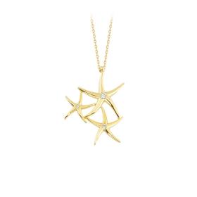 eJOYA 14 Ayar Altın Yıldız Taşlı Kolye 84310