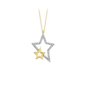 eJOYA 14 Ayar Altın Yıldız Taşlı Kolye 84312