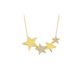 eJOYA 14 Ayar Altın Yıldız Taşlı Kolye 84313