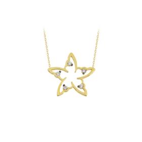 eJOYA 14 Ayar Altın Yıldız Taşlı Kolye 84316