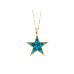 eJOYA 14 Ayar Altın Yıldız Taşlı Kolye 84319