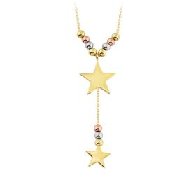 eJOYA 14 Ayar Altın Yıldız Taşlı Kolye 84320