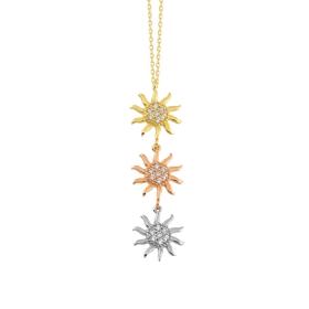 eJOYA 14 Ayar Altın Güneş Taşlı Kolye 84339