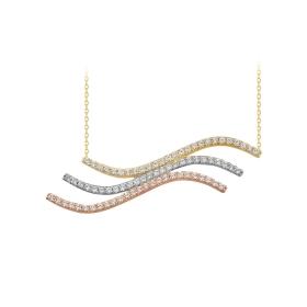 eJOYA 14 Ayar Altın Martı Taşlı Kolye 84356