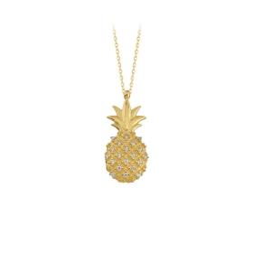 eJOYA 14 Ayar Altın Ananas Taşlı Kolye 84388