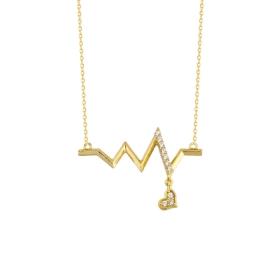 eJOYA 14 Ayar Altın Sinyal Taşlı Kolye 84417