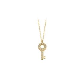 eJOYA 14 Ayar Altın Anahtar Taşlı Kolye 84423