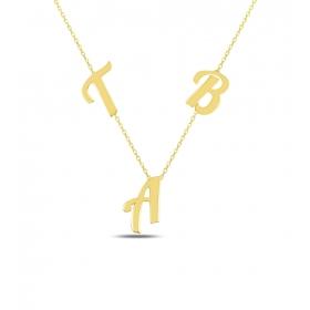 eJOYA Kişiye Özel Harfli Gümüş Kolye 84588