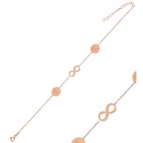 eJOYA Kişiye Özel Sonsuzluk Harfli Gümüş Bileklik 84606