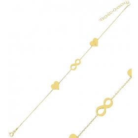 eJOYA Kişiye Özel Sonsuzluk Harfli Gümüş Bileklik 84610