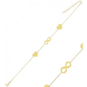eJOYA Kişiye Özel Sonsuzluk Harfli Gümüş Bileklik 84611