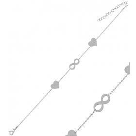 eJOYA Kişiye Özel Sonsuzluk Harfli Gümüş Bileklik 84612