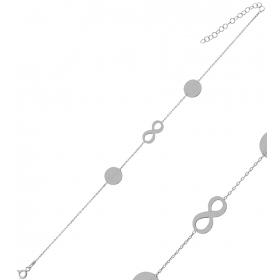 eJOYA Kişiye Özel Sonsuzluk Harfli Gümüş Bileklik 84614