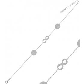 eJOYA Kişiye Özel Sonsuzluk Harfli Gümüş Bileklik 84615