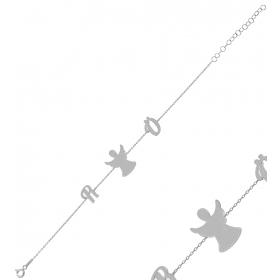 eJOYA Kişiye Özel Melek Harfli Gümüş Bileklik 84616