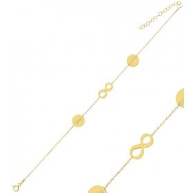 eJOYA Kişiye Özel Sonsuzluk Harfli Gümüş Bileklik 84622