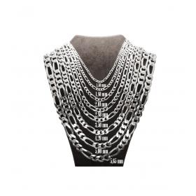 eJOYA Erkek Gümüş Figaro Zincir Kolye 84686