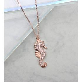 eJOYA Taşlı Denizatı Gümüş Kolye 84695