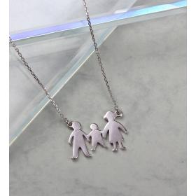 eJOYA Aile Gümüş Kolye 84715