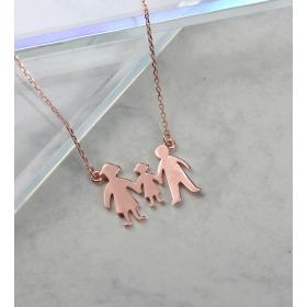 eJOYA Aile Gümüş Kolye 84716