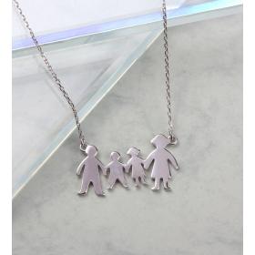 eJOYA Aile Gümüş Kolye 84718