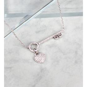 eJOYA Zircone Taşlı Gümüş Kalbimin Anahtarı Kolye 84802
