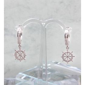 eJOYA Sallantılı Dümen Gümüş Küpe 84805